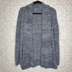 Sparkle & Fade Grey Open Cardigan M